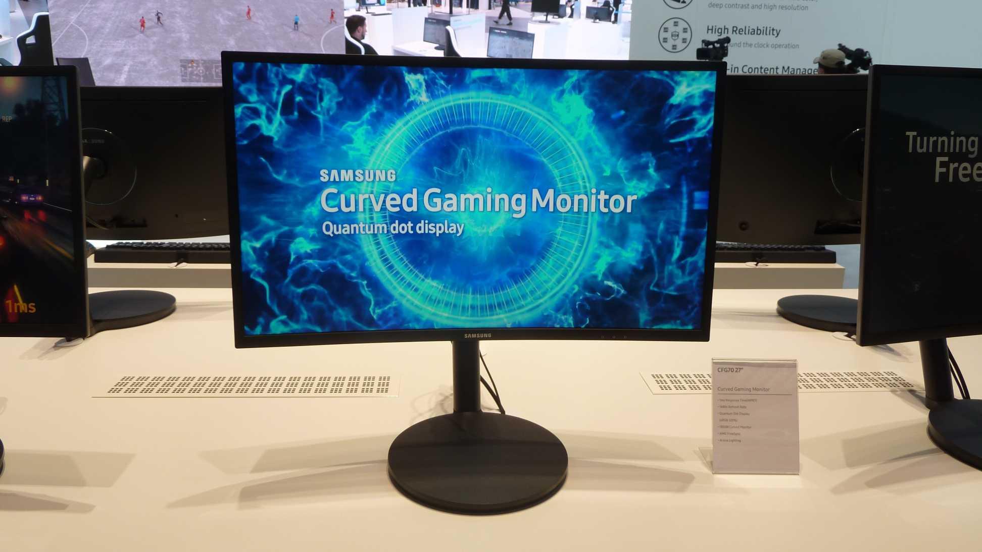 Samsungs Gaming-Monitor CFG70 gibt es in 24 und 27 Zoll.