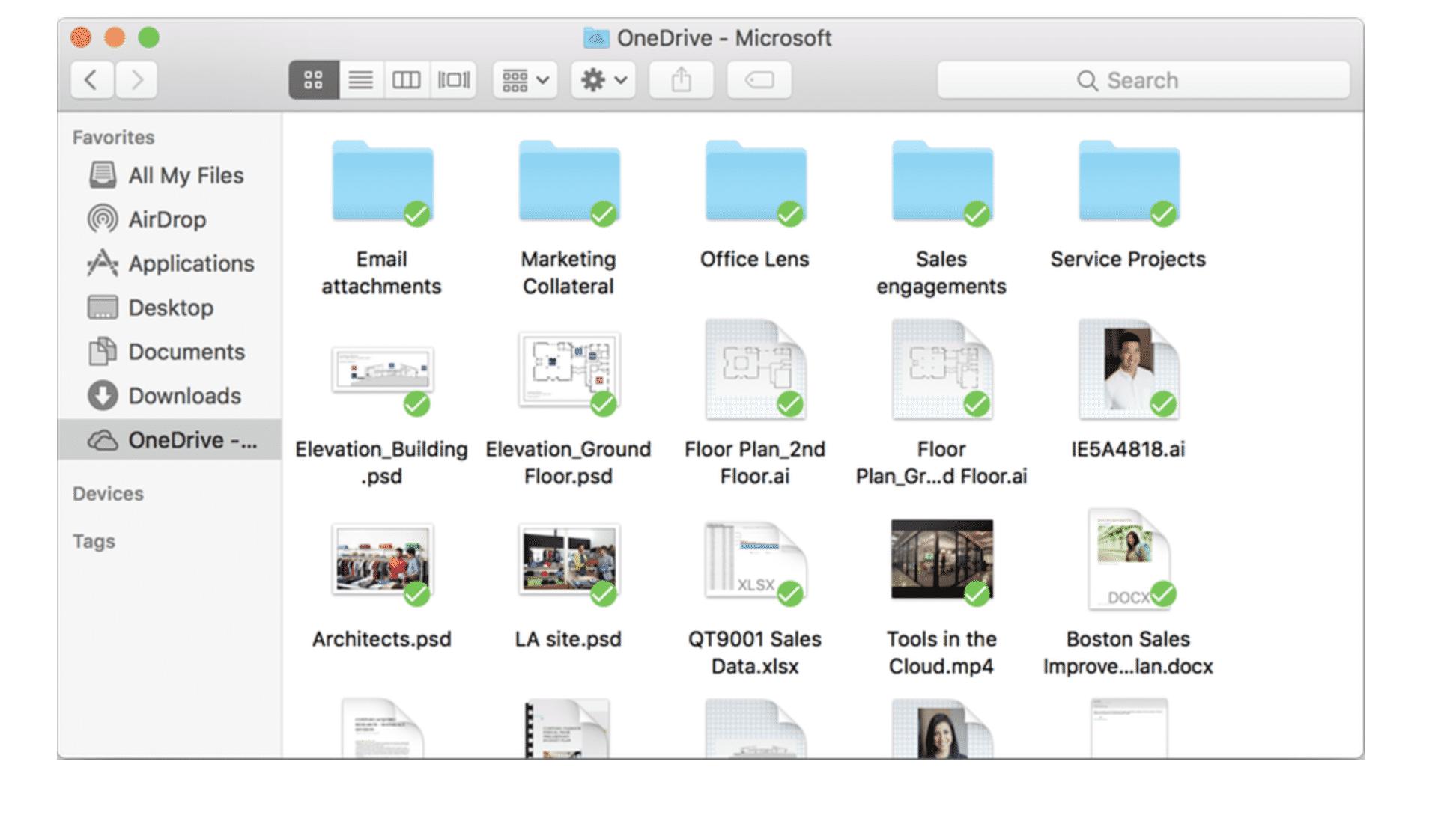 OneDrive für den Mac