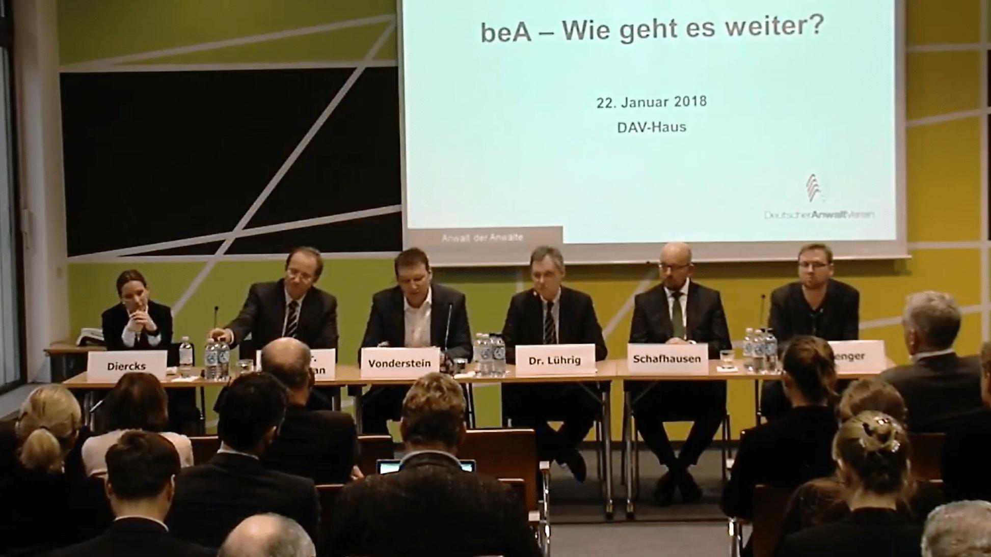Aus der Liveübertragung des Deutschen Anwaltsvereins
