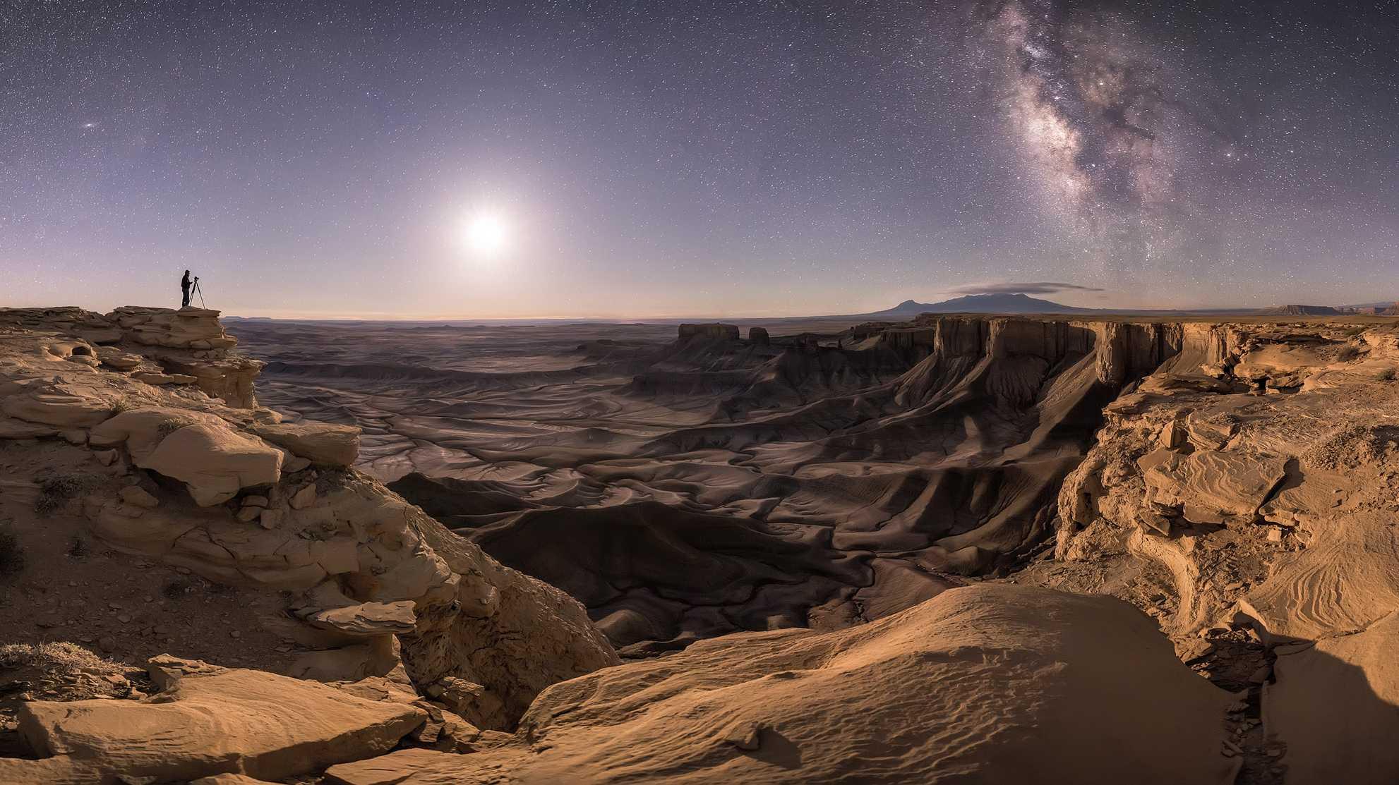 Astro-Fotograf 2018 gekürt: Andromeda und die Milchstraße über der Wüste