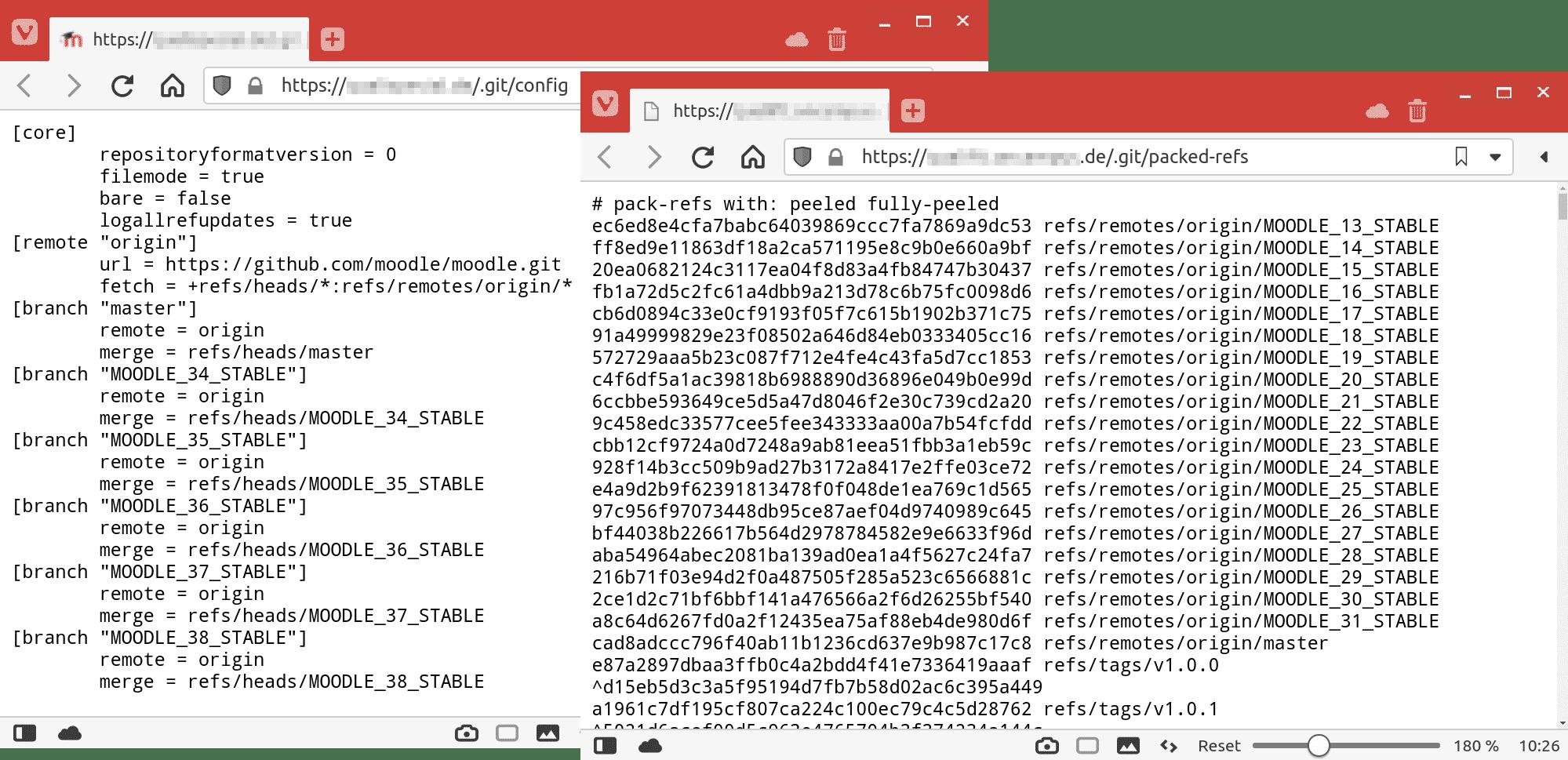 Git-Repositorys per Browser abrufen zu können ist bestenfalls unnötig und schlimmstenfalls eine gravierende Sicherheitslücke.