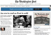 """""""Eine Ära geht zu Ende"""" titelt die Washington Post selbst über den Verkauf der Zeitung."""