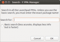 Y PPA Manager Suchdialog