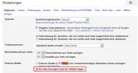 Gmail-Einstellungen