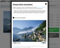 Bei Bildern, die in eigene Webseiten per iFrame integriert werden können, liefert Getty Images gleich den HTML-Code mit