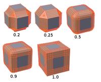 Je nach Parameter erzeugt das Bevel-Tool Hohlkehlen, Fasen oder Rundungen.