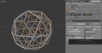 Der Wireframe-Modifier erzeugt aus den Kanten eines 3D-Objekts wie diesem Ikosaeder ein Drahtgitter.