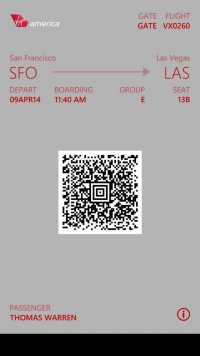 Passbook-Ticket in Windows Phone 8.1.