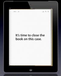 Auszug aus der Präsentation der Verteidigung: Was Apple gerne hätte, geht leider nicht in Erfüllung.