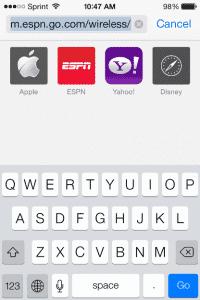 Mobile-Safari-Suchfunktion in iOS 7.