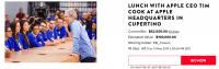 Tim Cook steht zur Auktion – diesmal für ein Mittagessen