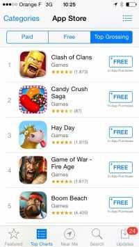 In-App-Einkaufsmöglichkeiten im App Store.