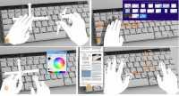 Die Gesten lassen sich direkt über der Tastatur ausführen