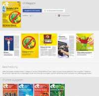 Startseite für Magazine in Googles Online-Kiosk am Beispiel von c't