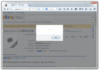 Der eingeschleuste JavaScript-Code wird auf der Auktionsseite ausgeführt.