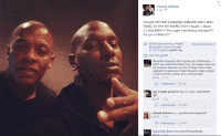Facebook-Screenshot zeigt die Gesichter der Vokalartisten Dr. Dre und Tyrese Gibson