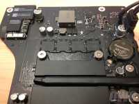 Blick ins Innere des neuen iMac.