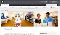 Die Webseite von Mcworld/Mcshark