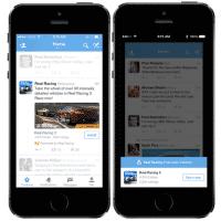 App-Installation in der Twitter-Anwendung.