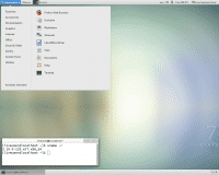Desktop des Gnome-Live-ISO von CentOS 7.