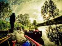 Paddler am Fluss