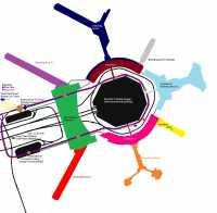 Übersichtsplan des Flughafens SFO