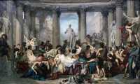 """Gemälde """"Die Römer der Verfallszeit"""""""