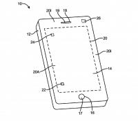 Knöpfe und Komponenten wie Lautsprecher könnten nach Apples Vorstellung unter einem flexiblen Display Platz finden