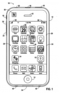 iPhone mit NFC und Shopping-App – aus einem älteren Apple-Patentantrag