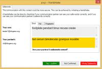 Ein Handshake bei PEP, um auch ohne Schlüsseltausch abgesicherte Kommunukation zu ermöglichen