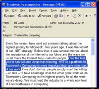 Diese Mail von Bill Gates brachte den Stein ins Rollen.
