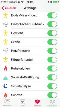 Unter Umständen gelangen die Werte nicht in Apples Health-App – erst iOS 8.1 soll hefen