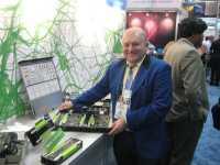 Stolz präsentiert Dells HPC-Urgestein Werner Hartz  die hochkompakten C4130-Einschübe, hier mit zwei Haswell-Prozessoren und vier Nvidia K80.