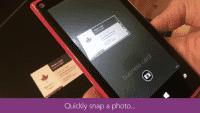 Visitenkarten mit Microsofts Office Lens scannen
