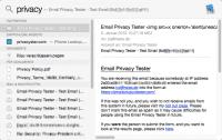 Treffer und versenkt: Stößt Spotlight auf eine HTML-Mail, lädt es ungefragt Inhalte von externen Servern nach.