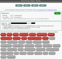 Spotlight fällt gleich auf mehrere Tracking-Tricks des Email Privacy Tester herein.