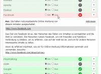 """Facebook-Mitglieder können der """"nutzungsbasierten Onlinewerbung"""" widersprechen – den neuen AGB von Facebook hingegen nicht."""