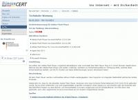 Das Bürger-CERT hat aufgrund der akuten Gefahr eine Alarmmeldung herausgegeben.