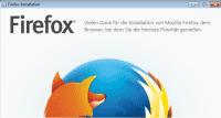 Firefox-Installationsfenster