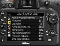 Nikon D7200 Videofunktionen