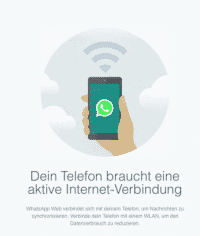 Messaging jenseits des Telefons: Webclient für WhatsApp.