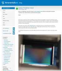 Im seinem Blog veröffentlicht lensrentals ein Foto eines betroffenen Sensors.