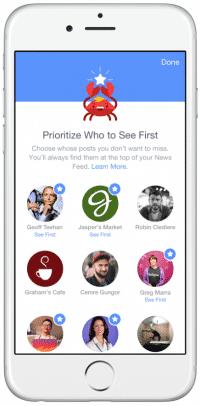 Facebook-Nutzer können zukünftig festlegen, wessen Postings sie auf keinen Fall verpassen möchten.