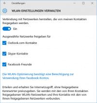 Das WLAN-Passwort kann nicht mit einzelnen Personen, sondern nur pauschal mit etwa allen Facebook-Freunden geteilt werden.