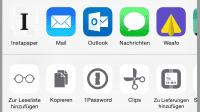 Microsoft Outlook mit iOS-Sharing-Erweiterung