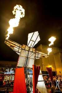 Flammenwerfender Roboter Kevin