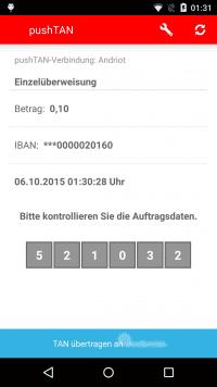 Die Überweisungsdaten scheinen korrekt. Die TAN kann bequem per Click in die Onlinebanking-App übertragen werden, wo der Anwender die Überweisung abschickt. Das Geld landet dann unter Umständen trotzdem woanders.