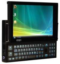 OQO e2 mit ausgefahrener Tastatur