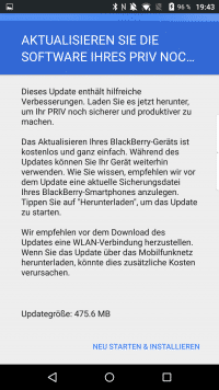 Zum Markstart des PRIV liefert BlackBerry das erste große Update