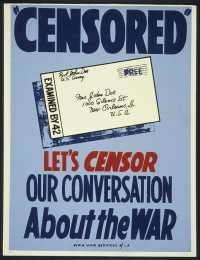 """Lets CENSOR our conversation about the war."""